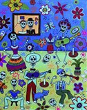 Fiesta Calaveras Amor Art Print