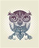 Baby Egypt Owl Art Print