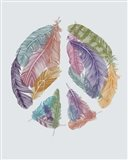 Feathers For Peace Art Print