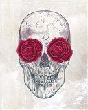 Skull Roses Art Print