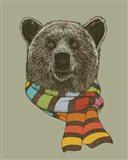 Bear Scarf Art Print