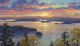 Sunset Over The San Juan Islands Art Print
