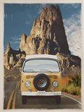 Across the Desert in Yellow Art Print