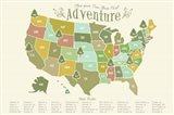 State Park Map Art Print