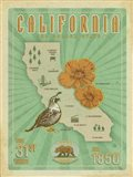 California Map Art Print