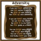 Adversity Art Print