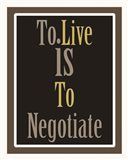 Negotiation 1 Art Print
