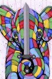 Warrior Of Color Art Print