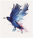Bloody Crow Art Print
