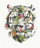 Tropical Tiger Art Print