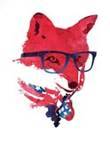 American Fox Art Print