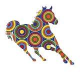 Horse Abstract Circles Art Print