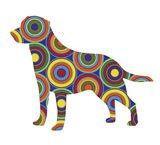 Labrador Abstract Circles Art Print
