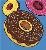 Doughnuts On Blue Art Print