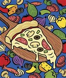 Pizza Slice With Toppings Art Print