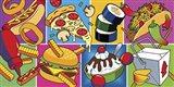 Takeout Food Montage Art Print
