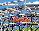 Jack Rabbit Roller Coaster Art Print