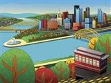 Pittsburgh Incline Autumn Art Print