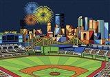 PNC Park Fireworks Pittsburgh Art Print