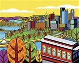 Pittsburgh Incline Autumn Pop Art Print