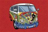 Sixties VW Hippy Van Art Print