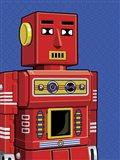 Vintage Red Robot Art Print