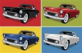 1956 Thunderbird Classic Car Art Print