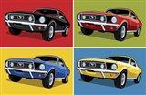 1968 Mustang Classic Car Art Print