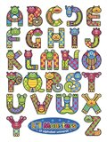 Li'l Monsters of Alphabet Universe Art Print