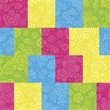 Pixel Paisley Pattern Art Print
