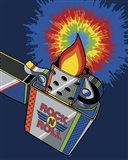 Rock & Roll Lighter Tie-dye Flame Art Print