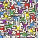 Social Network Circuit Board Pattern Art Print