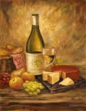 Tuscany Table With Cheese Art Print