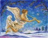 Christmas Angel - Joy to the World Art Print