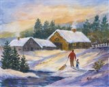 After the Sleigh Ride Art Print