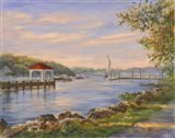 Before Sunset At Northport Art Print