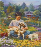 Friends on the Farm Art Print