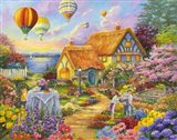 Spring In Grandmas Garden Art Print