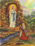Our Lady Of Lourdes Art Print