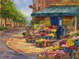 Fleuriste Flower Market Paris Art Print
