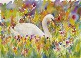 Colorful Swan Art Print