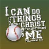 I Can Do All Sports - Baseball Art Print