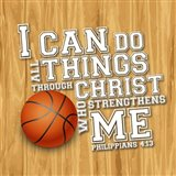I Can Do All Sports - Basketball Art Print