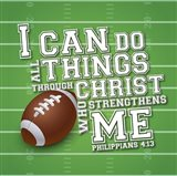 I Can Do All Sports - Football Art Print