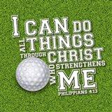 I Can Do All Sports - Golf Art Print