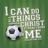I Can Do All Sports - Soccer Art Print