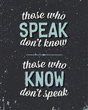 Those Who Speak Art Print