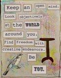 Keep an Open Mind Art Print