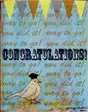 Congratulations Bird Art Print