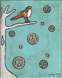 Peace Sign Bird Art Print